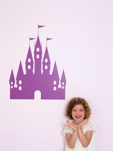 stickers mural château princesse