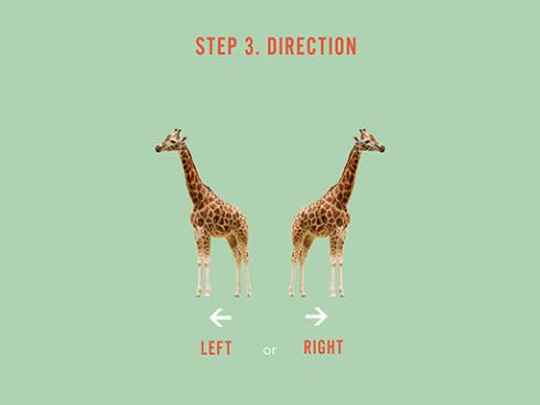 Étape 3 : sélectionnez la direction