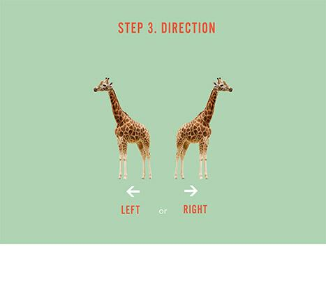 Comment choisir un sticker mural : étape 3, la direction