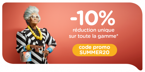 Action d'été du 25/07 au 16/08 inclus profitez d'une réduction unique de 10 % sur toute la gamme !