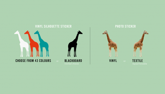 comment choisir un sticker mural - difference vinyl et textile
