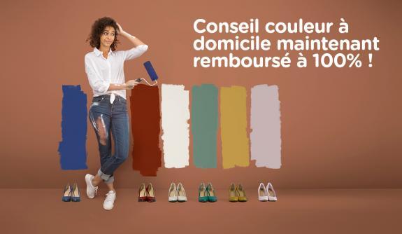 Profitez maintenant de l'action conseil couleur entre le 21 janvier et le 28 février 2019 et votre conseil couleur à domicile sera remboursé à 100%