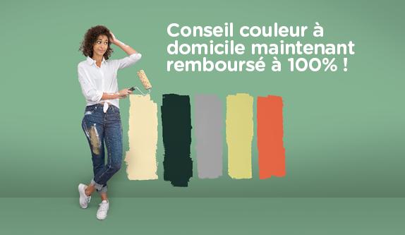 Profitez maintenant de l'action conseil couleur entre le 16 septembre et le 12 october 2019 et votre conseil couleur à domicile sera remboursé à 100%