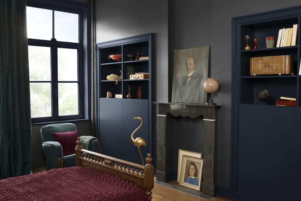 Peignez votre chambre bleu foncé
