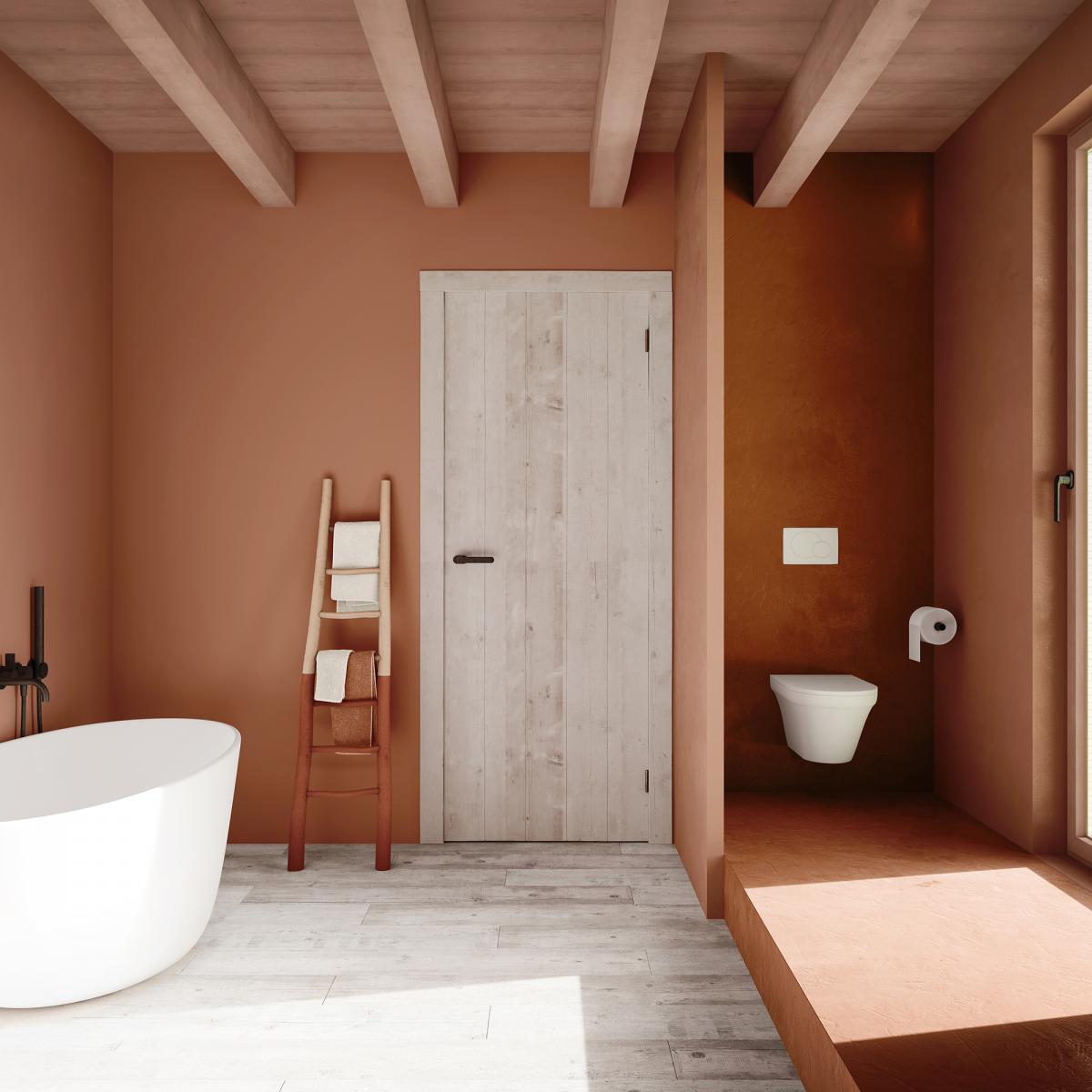 Créer une salle de bain intime avec des couleurs chaudes