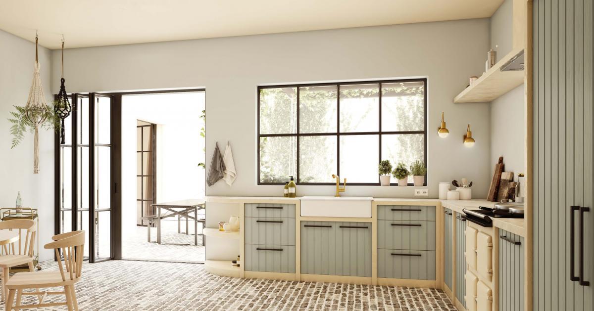 Faites de la cuisine et de la cour un ensemble harmonieux avec des couleurs de peinture naturelles
