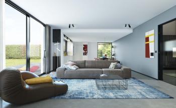 Peignez un mur d'accent et créez plus de profondeur dans le salon