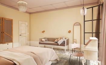 Créez un espace apaisant avec une palette de couleurs naturelles dans la chambre à coucher