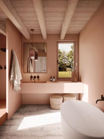 Peignez la salle de bains aux couleurs chaudes