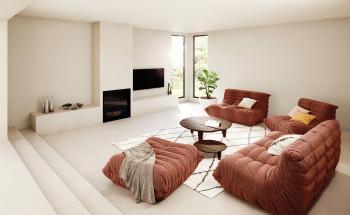 Optez pour des couleurs sereines dans le salon et créez une oasis de tranquilité