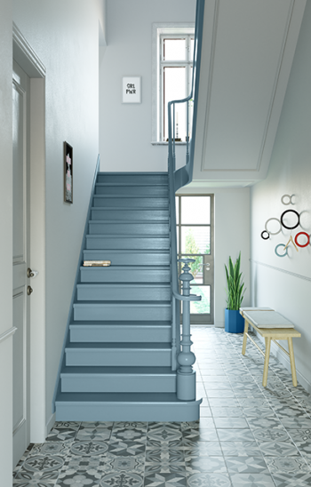 Créez de votre escaliers un attrape-regard.