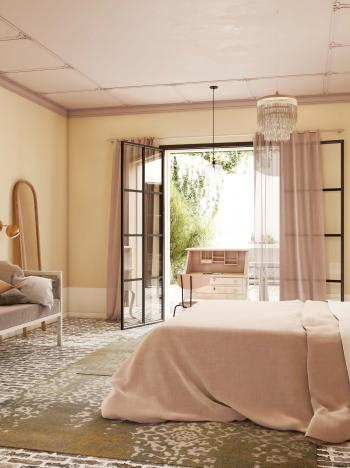 Utilisez des couleurs de peinture naturelles dans la chambre à coucher