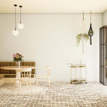 Combinez les couleurs de peinture naturelles dans la cuisine avec des meubles intemporels