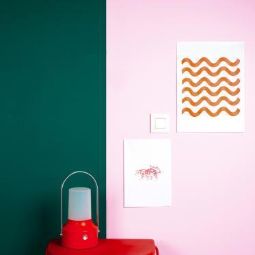 Choisissez des couleurs excentriques dans votre maison.