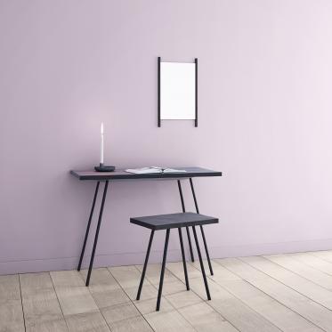 Un coin tranquille à votre bureau avec du lila doux