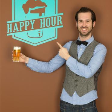 Autocollant happy hour