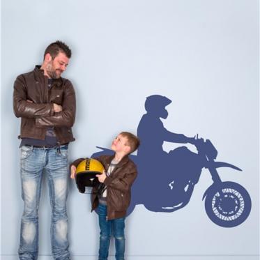 Autocollant mur motocrosseur
