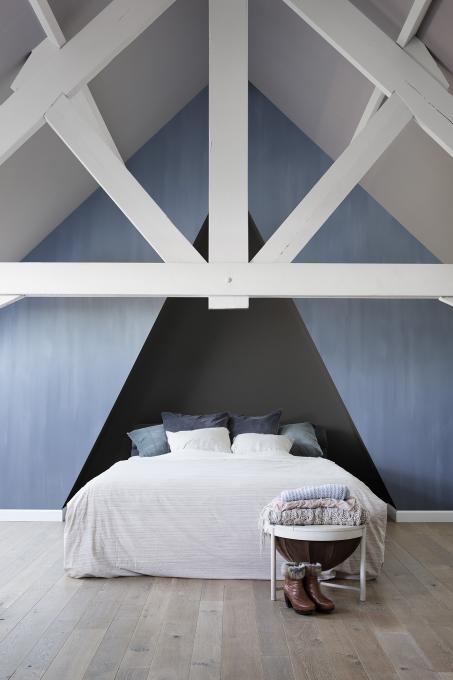 Peignez votre chambre bleu avec la peinture à la chaux