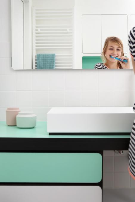 Peignez votre salle de bains en blanc et vert