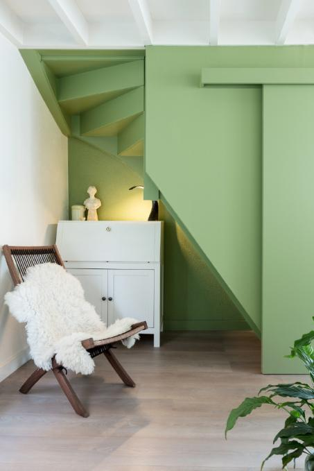 Peignez votre escalier en vert