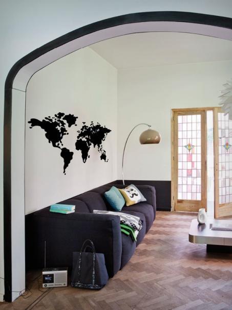 Autocollant carte du monde