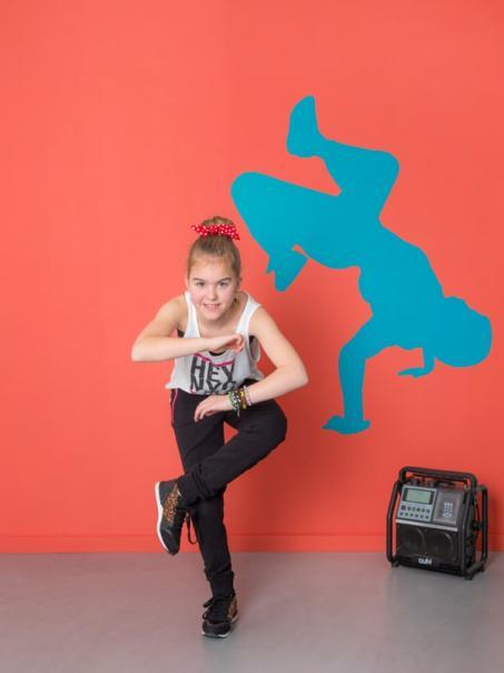 Autocollant mur danseur hip-hop