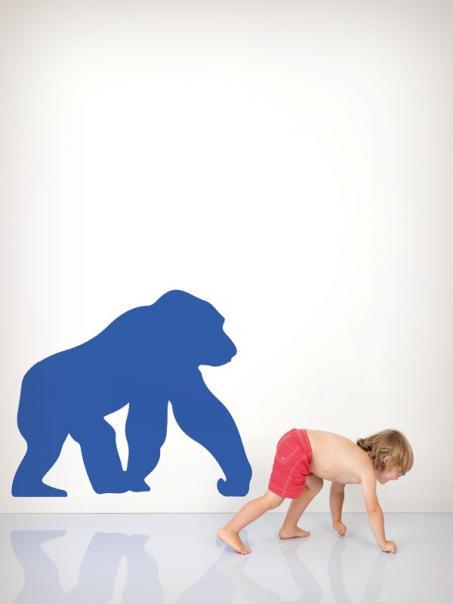 Autocollant mur gorille