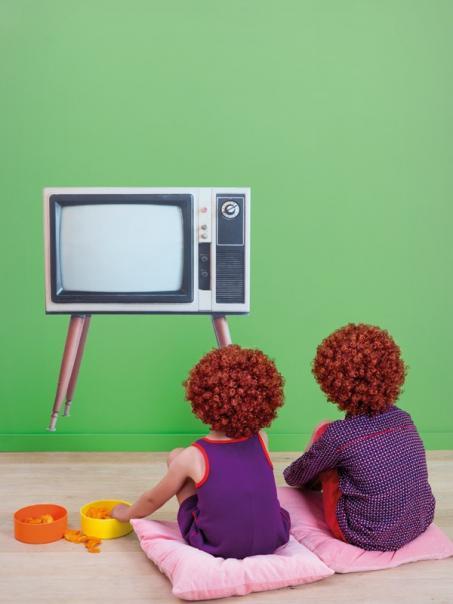 Autocollant mur télévision