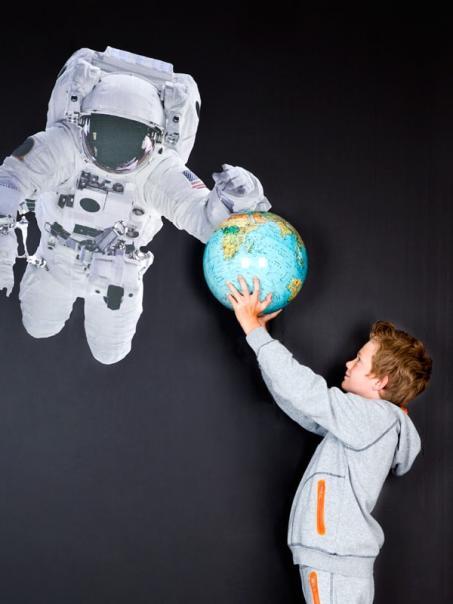 Autocollant mur astronaute