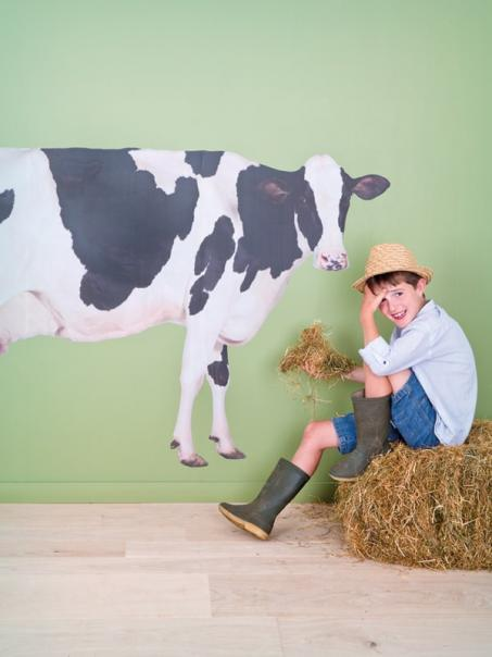 Autocollant mur vache