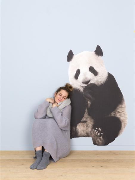 Autocollant mur panda
