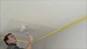 Comment peindre un plafond sans traces?