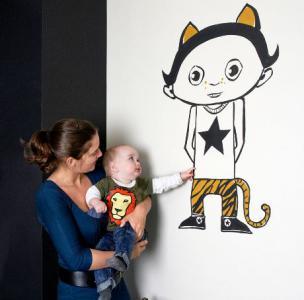 Blog id e d co chambre d enfant une peinture murale for Peinture murale enfant