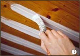 Comment peindre un plafond en bois?