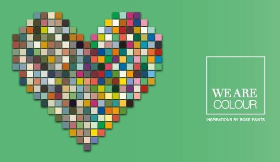 Nouvelles couleurs de tendance de We are colour - coeur