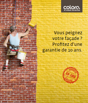 Vous peignez votre façade ? Profitez d'une garantie de 10 ans.