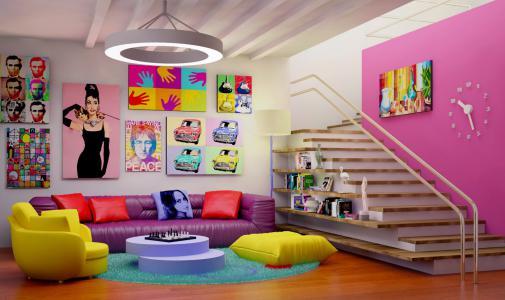 Combinaisons de couleurs Pop Art : tons vifs et doux