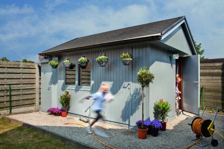 Tuinhuis met badkamer