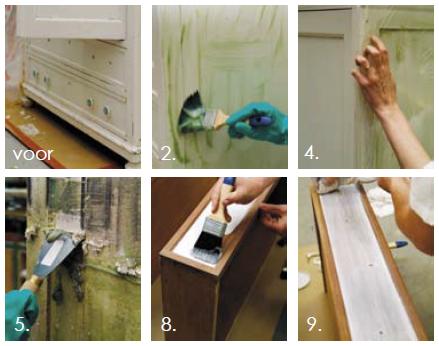 Met Paint' Off en houtbeits creëer je zelf de mooiste vintage meubelen