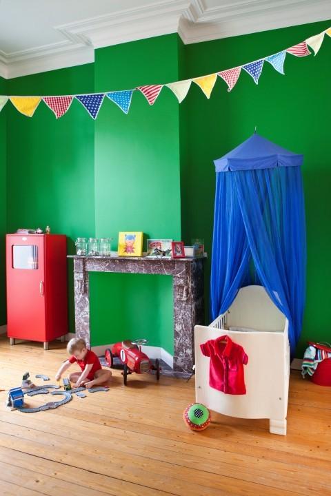 Blog je muur schilderen in een accentkleur - Kleur van de muur kamer verf ...