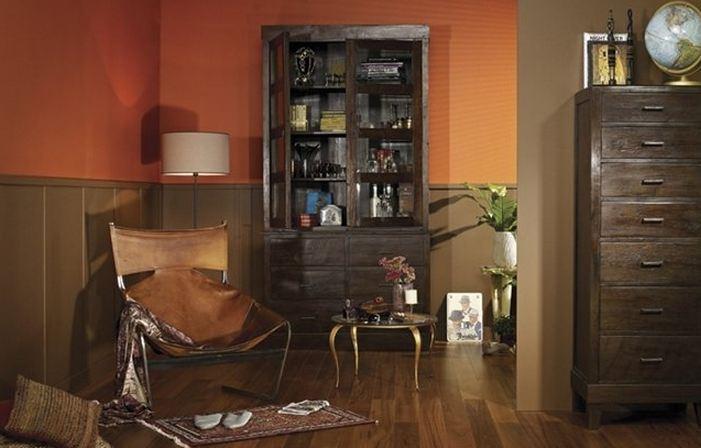 Muur fel oranje inspiratie het beste interieur for Interieur verfkleuren