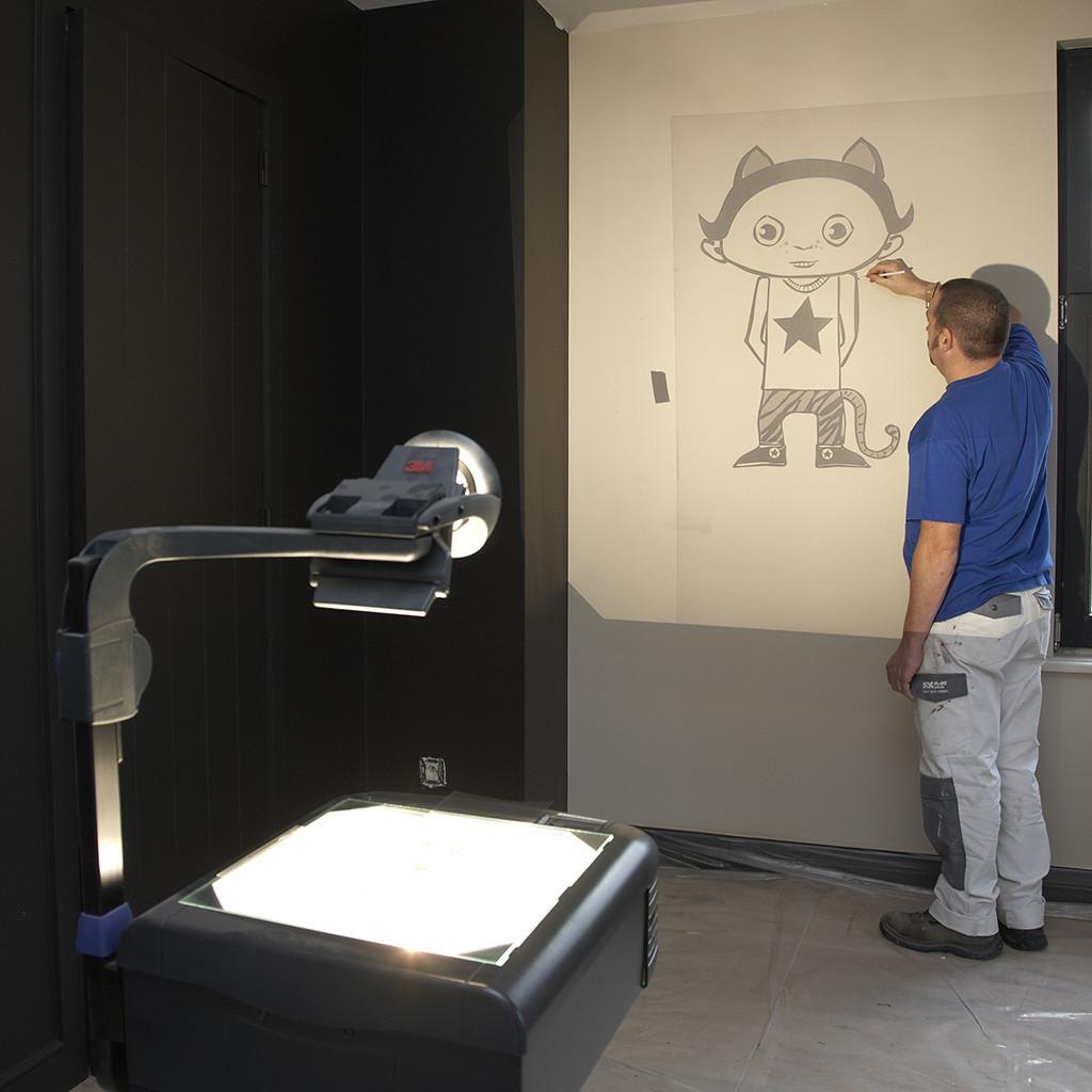 Blog kinderkamer idee n een muurschildering in de kinderkamer - Hoe u een projector te installeren buiten ...