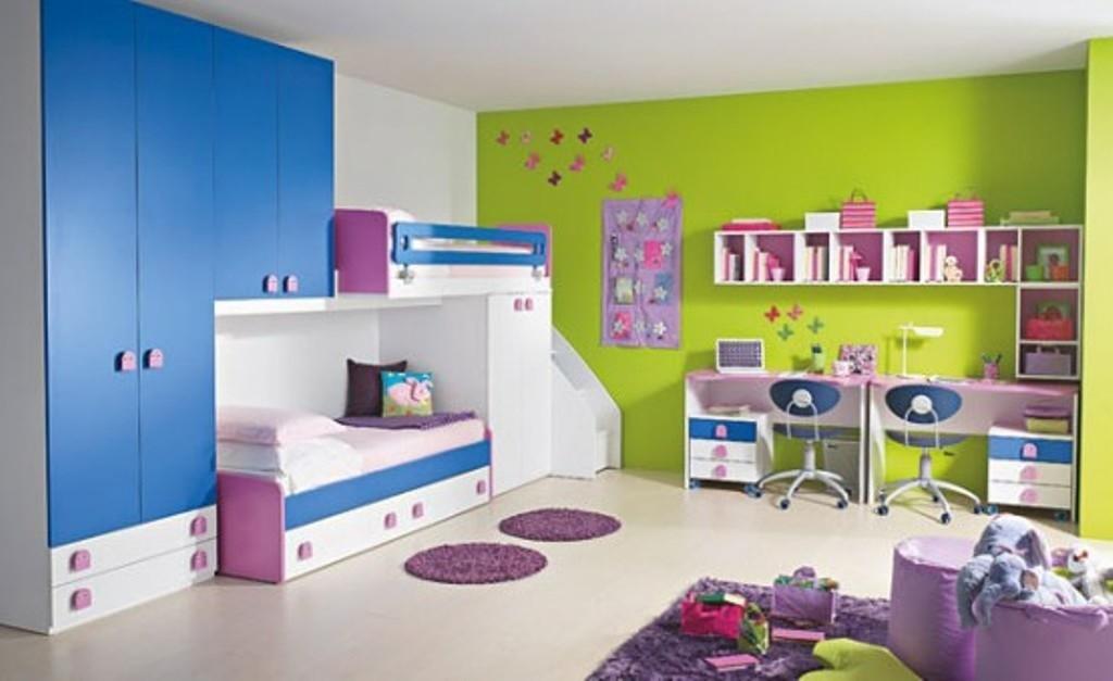 Des couleurs fraiches et gaies dans une chambre d'enfant