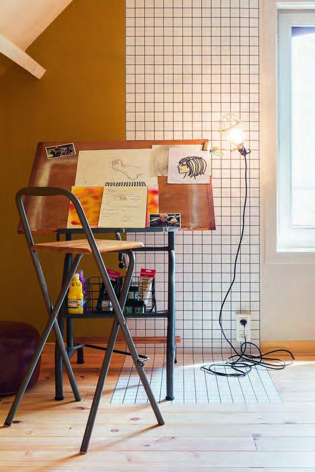 behangpapier 'The Grid' van Bent for BOSS