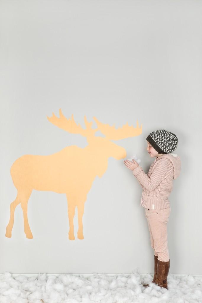 sticker mural élan pour Noël