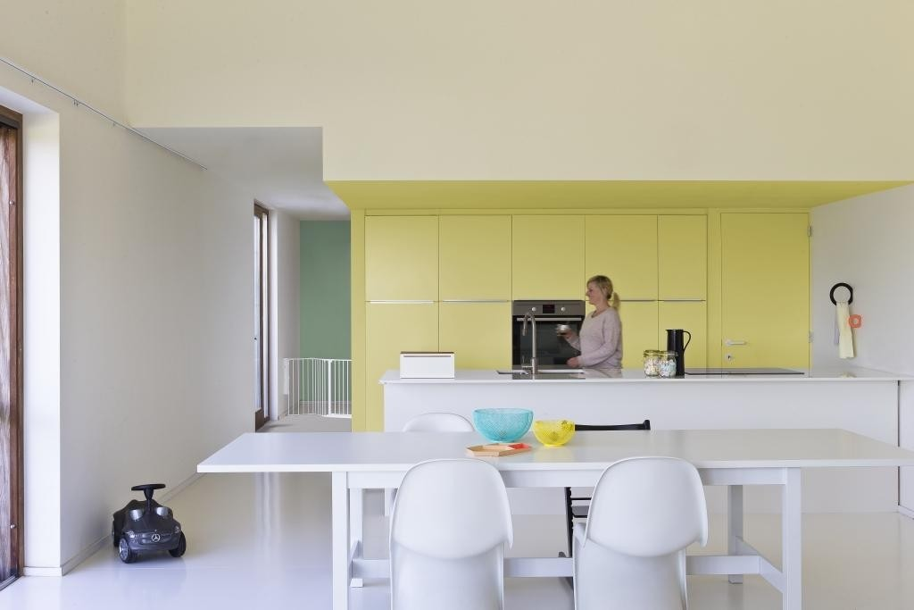 Geschilderde keukenkast