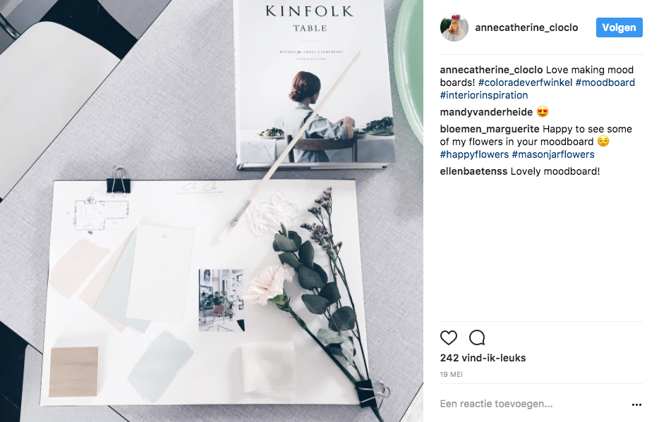 Clo Clo op Instagram over de workshop