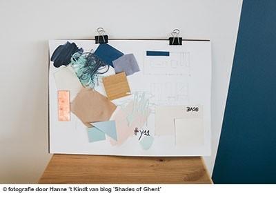 een moodboard van blogster Hanne voor haar kleuradvies
