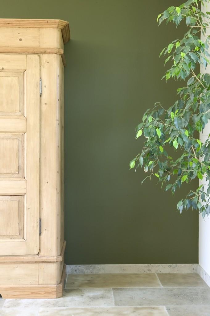 Vert sombre, vert menthe et gris-vert s'associent très bien aux plantes