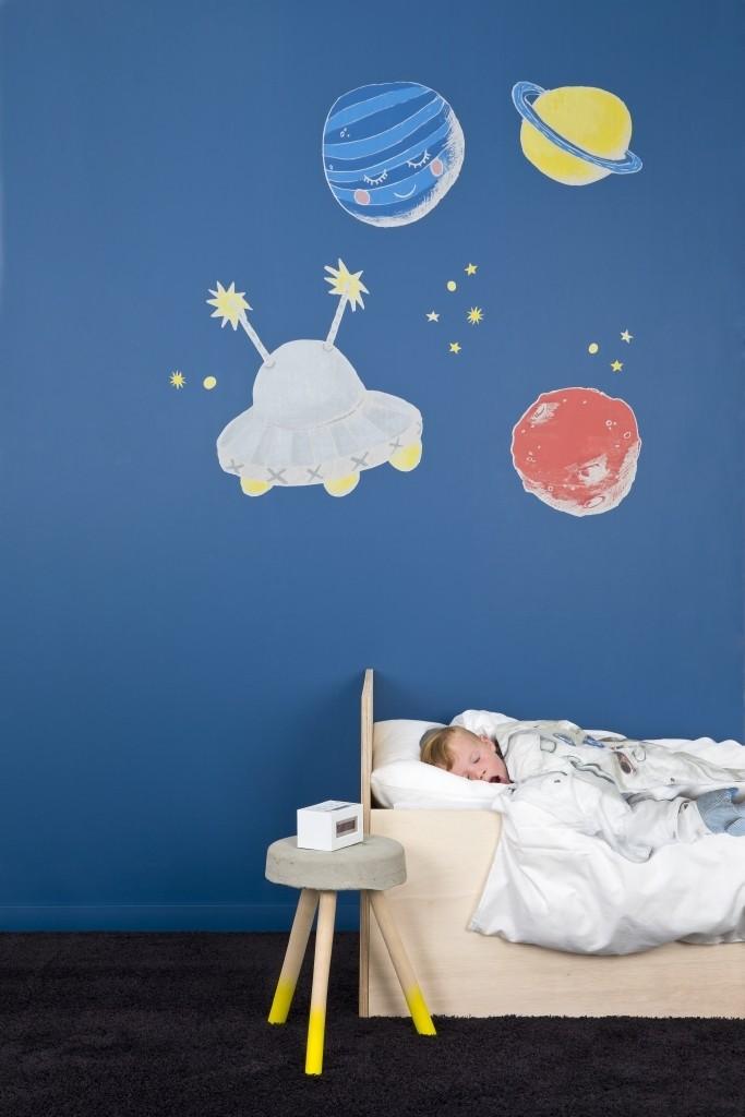 planeten stickers op je muur